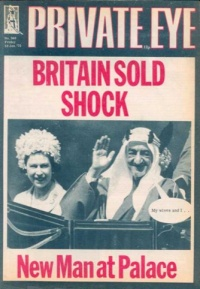 Private Eye front cover, No.340, 10 January 1975