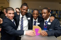 Ali Esayed, Jason Campbell, Olutobi Lawal and Trevan Gibbs, from Walworth Academy