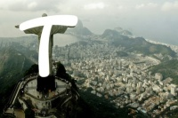 'T' and Christ the Redeemer Statue