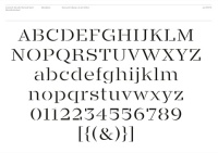The Calvert Brody typeface, which will be used in the rebrand