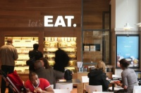 The new Eat logo and interiors
