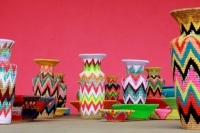Zig-zag patterned baskets
