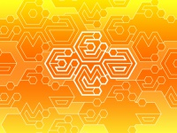 EEMA orange pattern