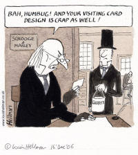 Visiting card cartoon