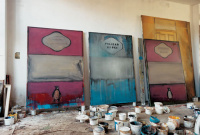 Three unfinished paintings