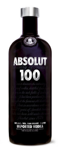 Absolut 100 vodka