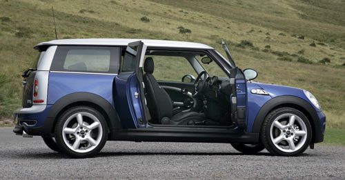 The driver's side of the Clubman, showing the extra B pillar which supports the Clubdoor 'suicide door'