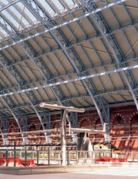 Interior of the St Pancras Eurostar terminal