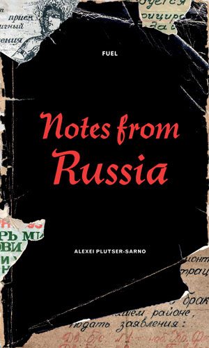 Cover and page from Notes from Russia by Alexei