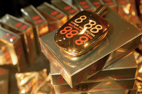 Packaging for 8 88 perfume, unveiled this week