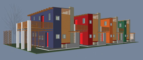 Computer rendering of Luyanda Mpahlwa's low-cost