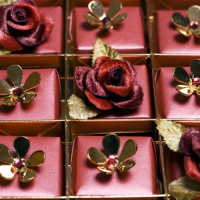 Swarovski-studded chocolates..
