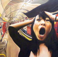 Munch Scream with Japanese Girl..