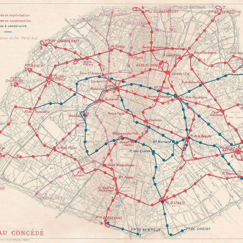 A plan from 1909, by the Transport Ministry and the