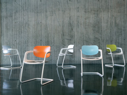 Soul cantilever chair, by Pearson Lloyd