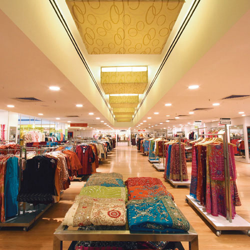 Interiors of the Shoppers' Stop department store in