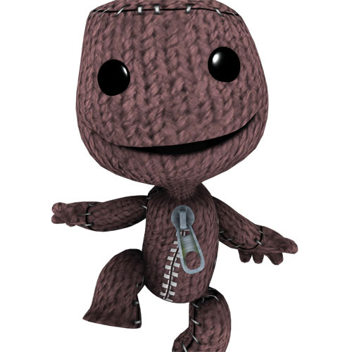 Sackboy, a character from the Little Big Planet game, developed by Media Molecule