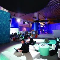 The visitor lounge within Ericsson's