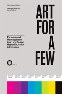 Cover  from the Art for a Few report, commissioned by the National Arts Learning Network