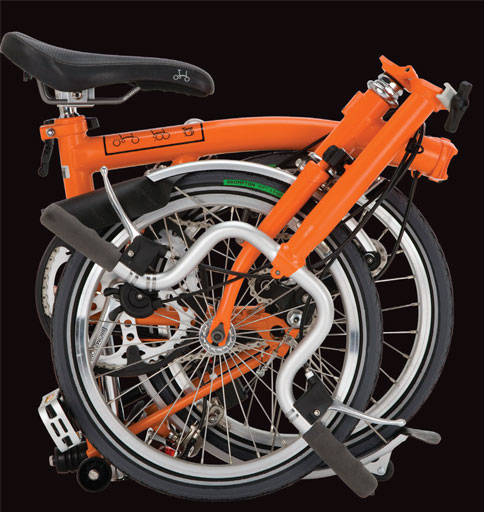 The Brompton bike, created by in-house designer Andrew Ritchie