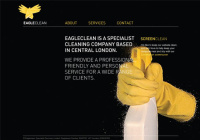 Eagle Clean website featuring the cleaning company's logo