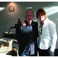 Small Back Room's Callum Lumsden with Mary Portas