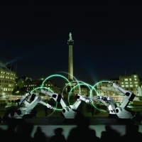 Outrace, an installation by Weisshaar Kram for London's Trafalgar Square