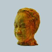Jonah, one of a series of cast-iron heads created by Taslim Martin in 2007