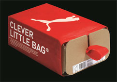 1 Puma's fully recycled and 'boxless' shoe pack system, designed by Yves Béhar