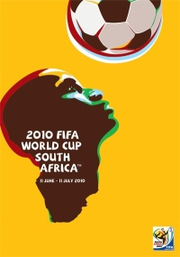 The official Fifa World Cup South Africa 2010 poster, designed by Switch