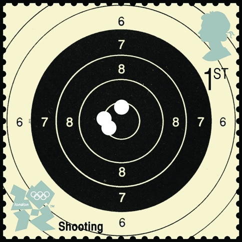 Shooting target, by David Hillman..