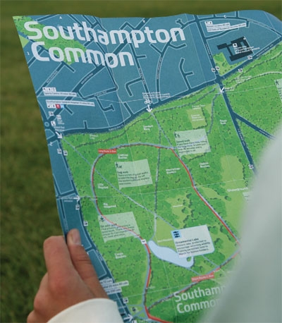 City ID's Legible City Southampton Common map