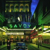 Strand entrance to the Savoy, refurbished by Pierre-Yves Rochon and Reardon Smith