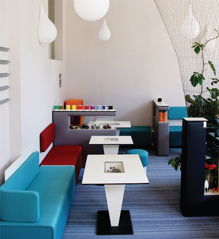 Design Café with Bene furniture in Brno, Slovakia