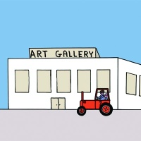 Stills from David Shrigley's video for the Save the Arts initiative, which emphasises the value