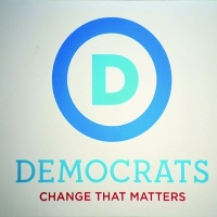 The US Democratic Party's new logo, created by SS&K