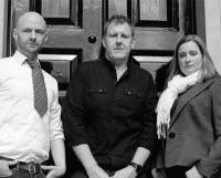 The Council co-founders – (left to right) creative director Kevin Hill, managing director Jeff Conrad and director of production Sophia Pendar- Hughes