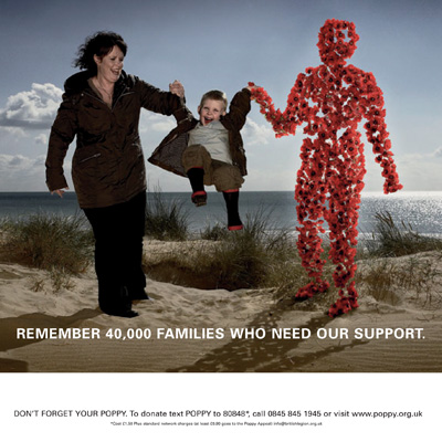 The Royal  British Legion's Poppy Appeal 2008 and 2010, created by The Gate