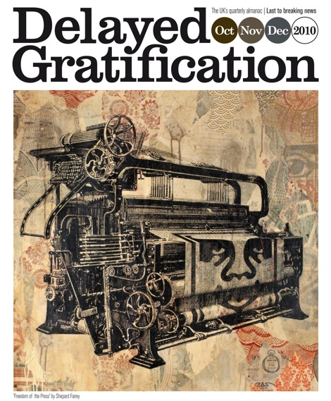 Delayed Gratification cover, with artwork by Shepard Fairey