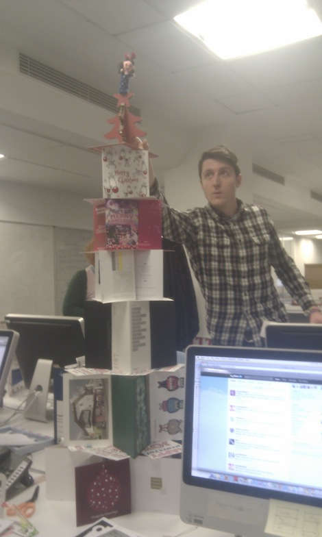 DW's Christmas card tower