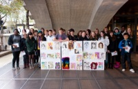 The National Art  Design Saturday Club from Leeds College of Art at Somerset house, (c) Graham Carlow