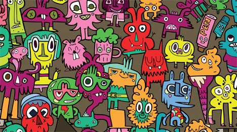 Jon Burgerman's Burgerbrained theme