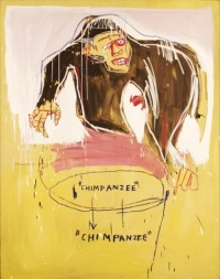 Jean-Michel Basquiat, Chimp, 1983. Acrylic and stick oil on canvas, 182 x 144 cm