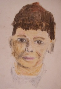 Portrait by Harvey aged 10 Warwickshire Children the Arts
