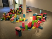 Christian Zuzunaga's bricks installation