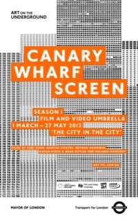Canary Wharf screen