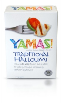 Yamas Halloumi packaging