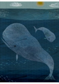 Blue Whale Poster, Nick Hayes