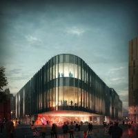 Designs for the new building, by Mecanoo