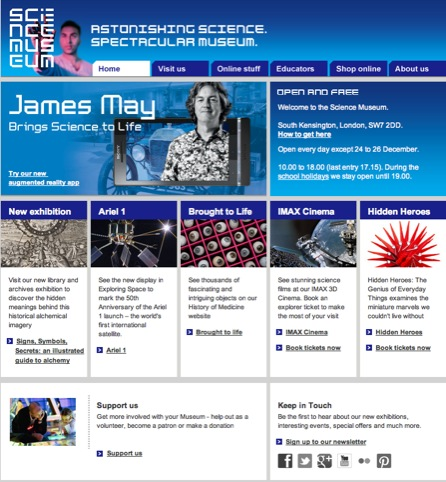 Science Museum website
